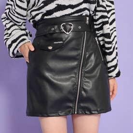 フェイクレザースカート(ブラック)
