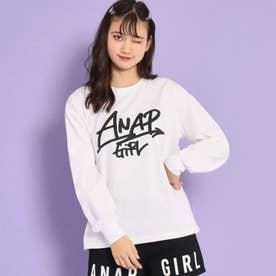 手書きロゴロングTシャツ(ホワイト)