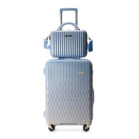 &シュエット スーツケース≪Lunalux≫ 中 ライトブルー
