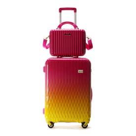 &シュエット スーツケース≪Lunalux≫ 中 フューシャピンク
