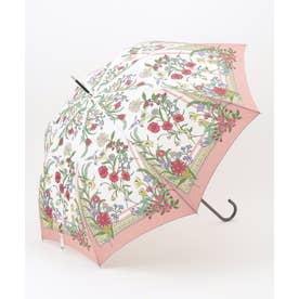 【晴雨兼用】スカーフパターン 長傘 (ピンク系)