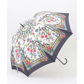 【晴雨兼用】スカーフパターン 長傘 (ネイビー系)