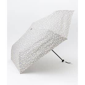 【晴雨兼用】スーパーライトレオパード 折りたたみ傘 (ライトグレー系)