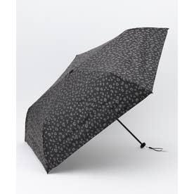 【晴雨兼用】スーパーライトレオパード 折りたたみ傘 (ブラック系)