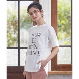 【L'aube】BIGロゴ Tシャツ (オフホワイト)