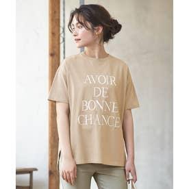 【L'aube】BIGロゴ Tシャツ (ライトモカ)