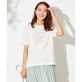 メッセージプリント Tシャツ (オフホワイト)