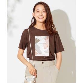 【NAIL HOLICコラボ】プリント Tシャツ (ブラウン)