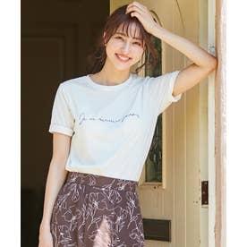 【NAIL HOLICコラボ】ロゴ Tシャツ (オフホワイト)
