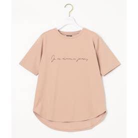 【NAIL HOLICコラボ】ロゴ Tシャツ (モカピンク)