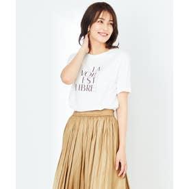 【UVケア】グラフィックロゴ Tシャツ (オフホワイト)