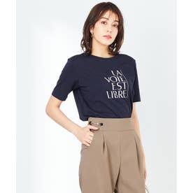 【UVケア】グラフィックロゴ Tシャツ (ネイビー)