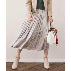 【洗える】カッセンチンツギャザー スカート (グレージュ)