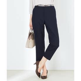 【イージーケア】センタープレス テーパード パンツ (ネイビー系)