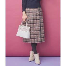 【2WAY】パイピングリバーシブル スカート (ネイビー)