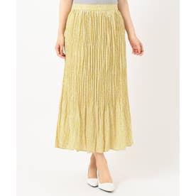 【洗える】フラワープリント スカート (イエロー系3)