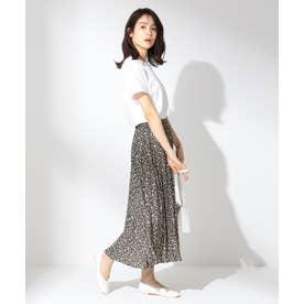 【洗える】ダブルプリーツ スカート (ブラック系5)