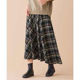 バイヤスチェック スカート (ブラック系)
