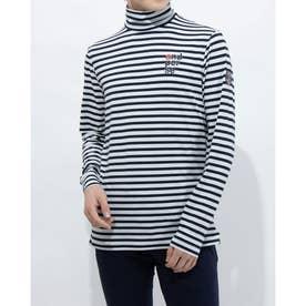 メンズ ゴルフ 長袖シャツ 紳士長袖シャツ AMS9201X1 (ホワイト)