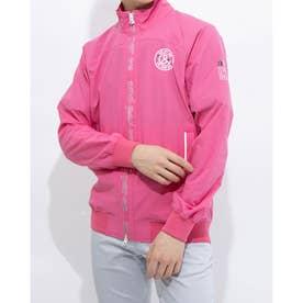 メンズ ゴルフ 長袖ウインドブレーカー 紳士ブルゾン AMS1101G1 (ピンク)