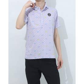 メンズ ゴルフ 長袖シャツ 紳士半袖シャツ AMS9611X2 (パープル)