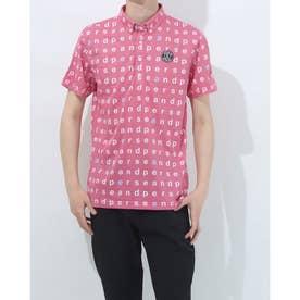 メンズ ゴルフ 長袖シャツ 紳士半袖シャツ AMS9611Y1 (ピンク)