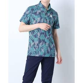 メンズ ゴルフ 長袖シャツ 紳士半袖シャツ AMS9611X5 (ネイビー)