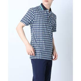 メンズ ゴルフ 長袖シャツ 紳士半袖シャツ AMS9711Y2 (ネイビー)