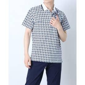 メンズ ゴルフ 長袖シャツ 紳士半袖シャツ AMS9711Y2 (ホワイト)