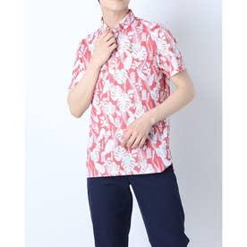 メンズ ゴルフ 長袖シャツ 紳士半袖シャツ AMS9611X7 (ピンク)