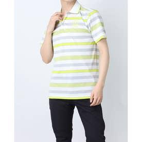 メンズ ゴルフ 長袖シャツ 紳士半袖シャツ AMS9711Y3 (ホワイト)