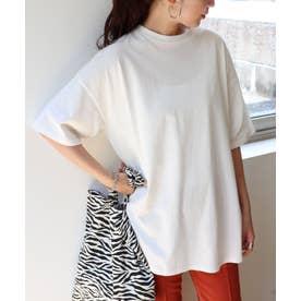 USAコットン汗染み防止オーバーサイズ半袖Tシャツ (オフホワイト)