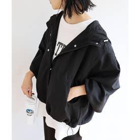 ポリエステルオーバーサイズマウンテンパーカー ジャケット ブルゾン (ブラック)