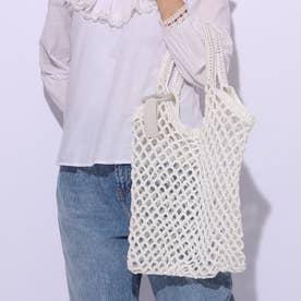かぎ針編みメッシュバッグ (ホワイト)