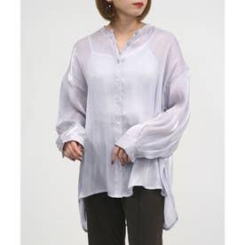 シャイニーポプリンビッグシャツ (ラベンダー)