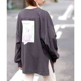 アートロゴビッグTシャツ (チャコールグレー)