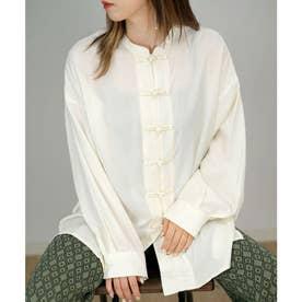 ツイルチャイナビッグシャツ (アイボリー)