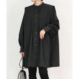 ピンタックブザムドレスシャツ (ブラック)