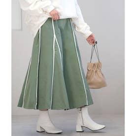 ウェザークロスパイピングスカート (グリーン)