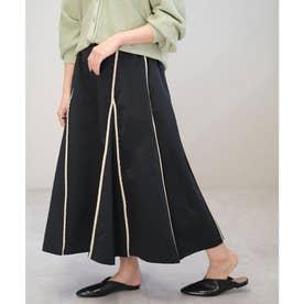 ウェザークロスパイピングスカート (ブラック)