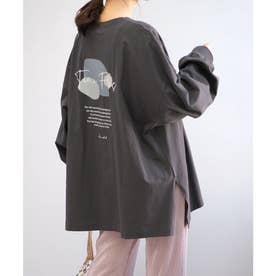バックプリントビッグTシャツ (チャコール)