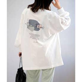 バックプリントビッグTシャツ (オフホワイト)
