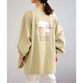 バックプリントビッグTシャツ (グリーン)