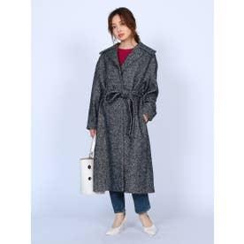 Belted Coat (BLACK×WHITE)