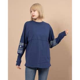 レディース長袖Tシャツ(ブルー)
