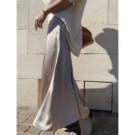 サテンマーメードスカート (BEIGE)