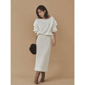 ツイードタイトスカート (WHITE)