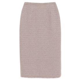 ツイードタイトスカート (PINK BEIGE)