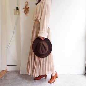 オブリークトゥが今年らしいショート丈足袋ブーツ (ライトブラウン)
