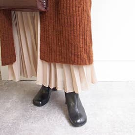 オブリークトゥで今年らしく細見えするショートブーツ (ブラック)